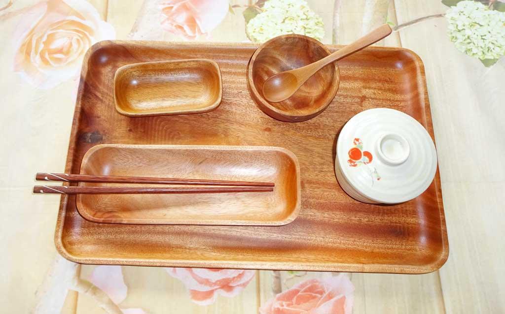 đĩa gỗ dài